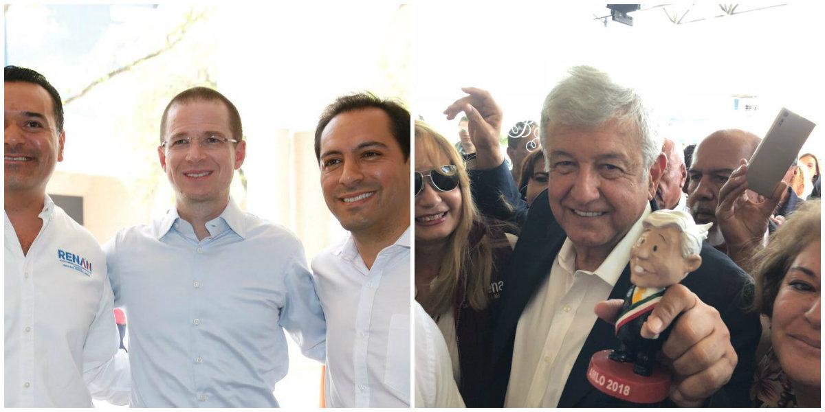 Ricardo Anaya-AMLO/Fuente: Twitter @RicardoAnayaC y @lopezobrador_