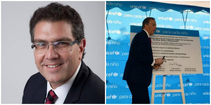 Armando Ríos Piter- José Antonio Meade/ Fuente: Wikimedia Commons y @JoseAMeadeK
