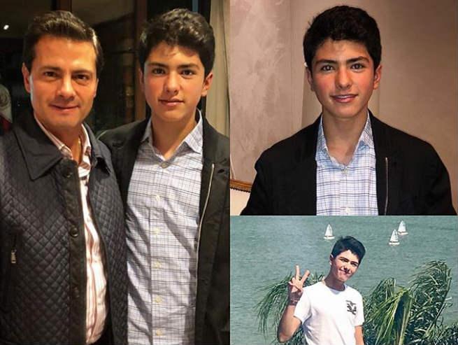 Enrique Peña Nieto posa con su hijo Diego. (@epn)