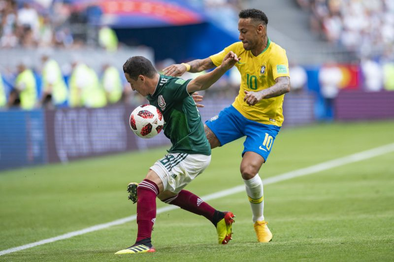 México vs Brasil en octavos de final Mundial Rusia 2018 Foto: @miseleccionmx