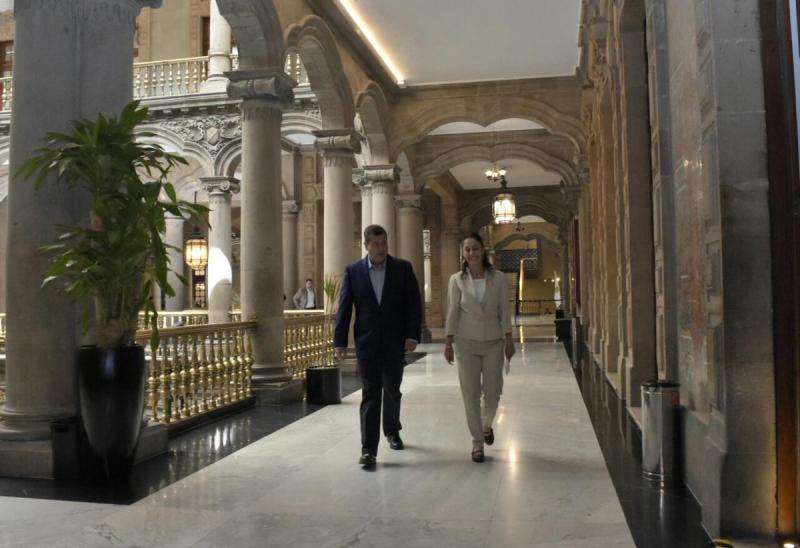 Reunión entre Claudia Sheinbaum y José Ramón Amieva Foto: Twitter José Ramón Amieva