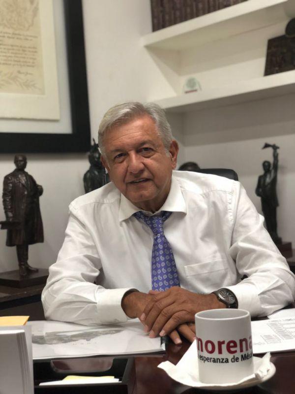 Candidato presidencial Andrés Manuel López Obrador Foto: @lopezobrador_