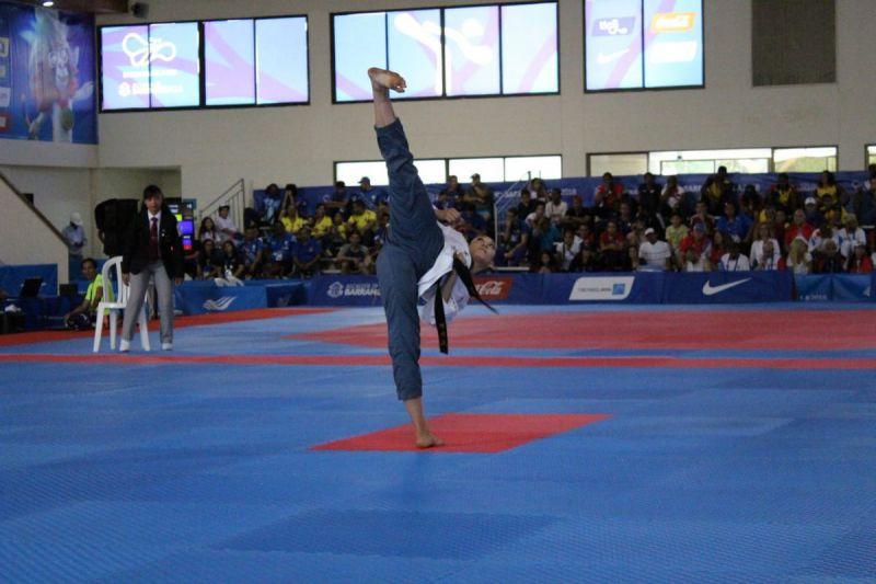 Daniela Rodríguez durante competencia en JCC Barranquilla 2018 Foto: Twitter Comité Olímpico Mexicano @COM_Mexico