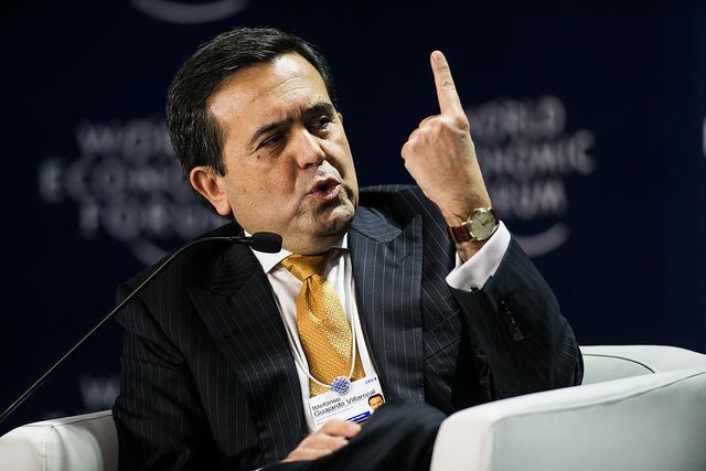 En un solo mes Ildefonso Guajardo espera tener cerrado el TLCAN y para noviembre prevé que ya esté aprobado por el Congreso. Foto: Foro Económico Mundial.