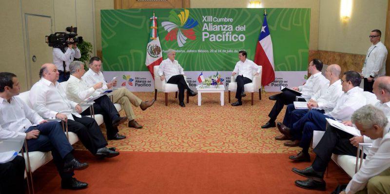 Reunión de Jefes de Estado en la Cumbre de la Alianza del Pacífico Foto: Twitter Alianza del Pacífico @A_delPacifico
