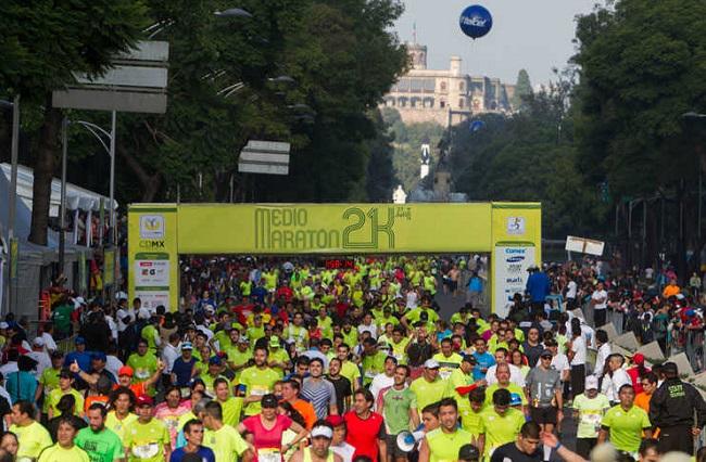 Hoy se realiza el XII Medio Maratón de la Ciudad de México