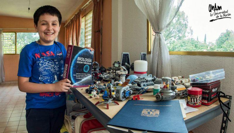 Carlos Santamaría cursará licenciatura a los 12 años de edad Foto: Twitter de la UNAM @UNAM_MX