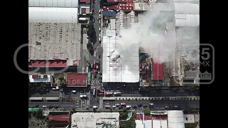 Incendio registrado en Av. Tláhuac, en Iztapalapa Foto: Twitter C5 de la Ciudad de México @C5_CDMX