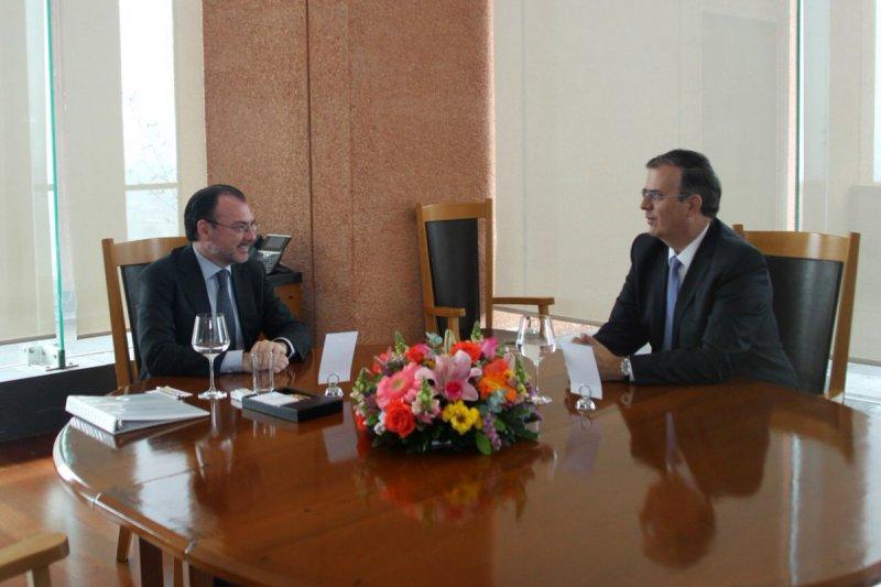 Reunión entre Luis Videgaray y Marcelo Ebrard Foto: Twitter Luis Videgaray @LVidegaray