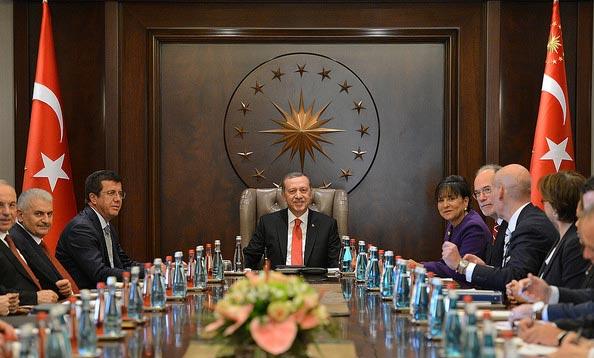 Presidente turco, Recep Tayip Erdogan, en reunión con representantes del Departamento de Comercio de EU. Foto: Departamento de Comercio de EU.