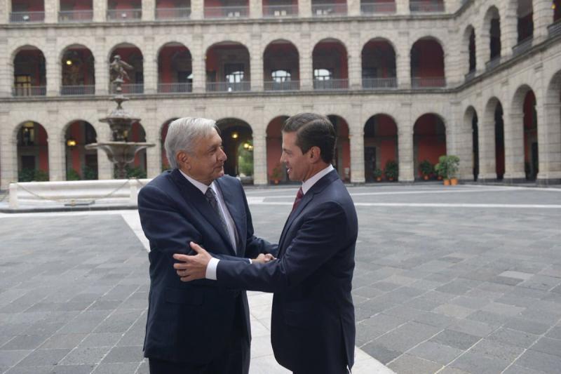 Reunión entre Enrique Peña Nieto y Andrés Manuel López Obrador Foto: Twitter Enrique Peña Nieto @EPN