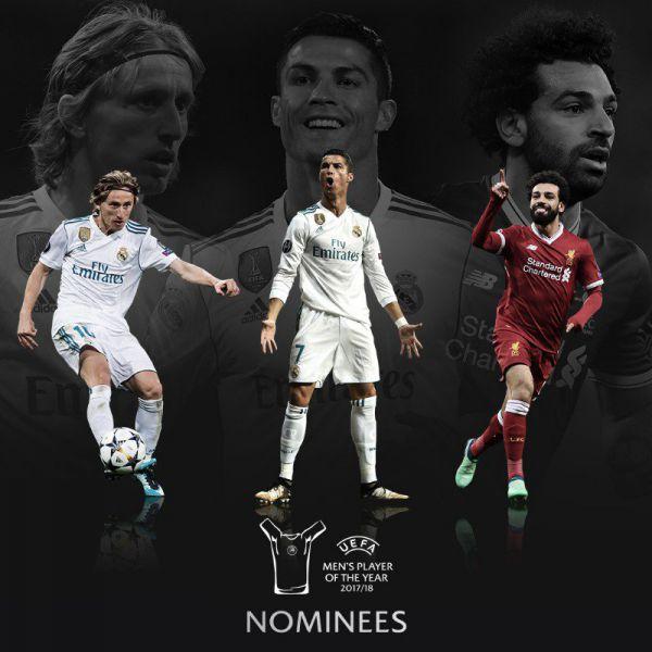 Nominados a Mejor Jugador 2017-2018 de la UEFA Champions League Foto: uefa.com