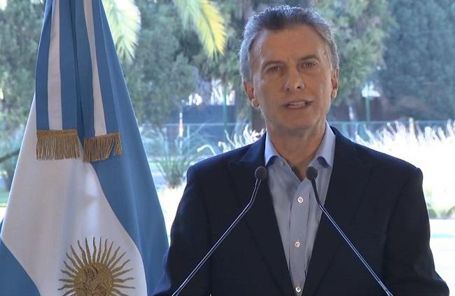 Mauricio Macri, presidente de la República de Argentina.