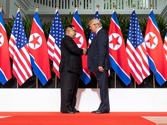 Trump y Kim Jong-un tuvieron su primera reunión el 12 de junio de 2018 (Foto:@realDonaldTrump)