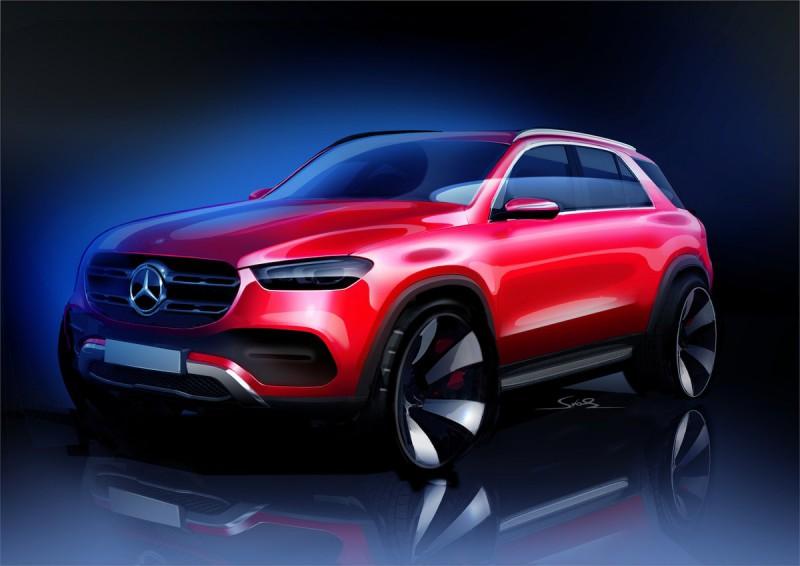 Boceto de nuevo Mercedes-Benz GLE. Foto: Twitter Mercedes-Benz @MercedesBenz