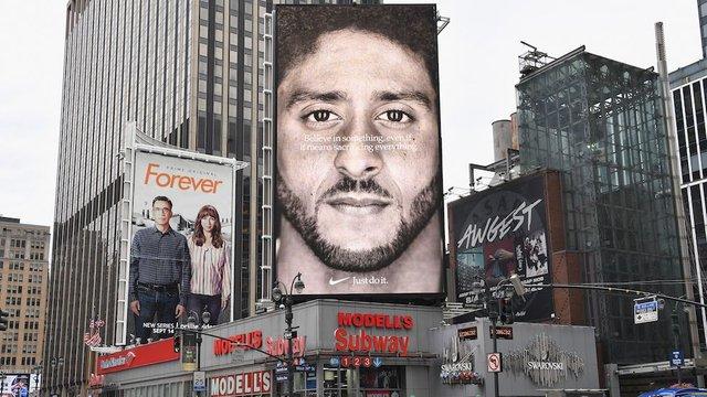 Colin Kaepernick es la imagen de la campaña antirracista de Nike. (Foto: Twitter @thehill).