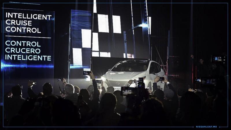 Presentación de Nissan LEAF en México (Foto: Twitter @Nissan_mx).