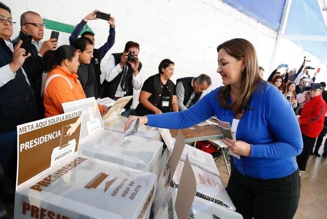 Martha Erika Alonso de Moreno Valle, virtual ganadora de la elección y esposa del exgobernador Rafael Moreno Valle.