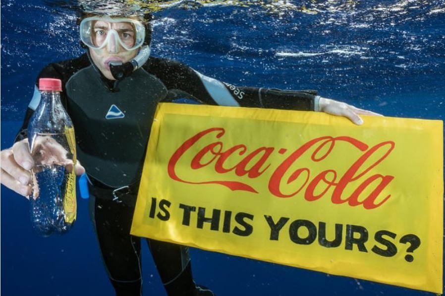 Campaña de Greenpeace para buscar la reducción de plástico en los mares. Foto: Greenpeace