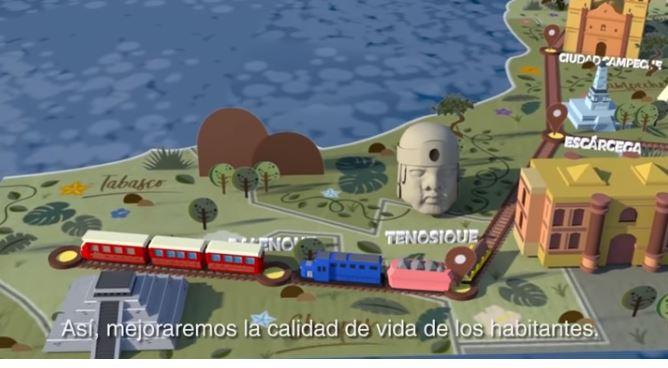 Video promocional del Tren Maya presentado por el equipo de AMLO.