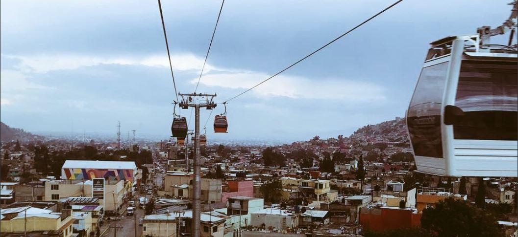 Teleférico en Ecatepec, Estado de México.