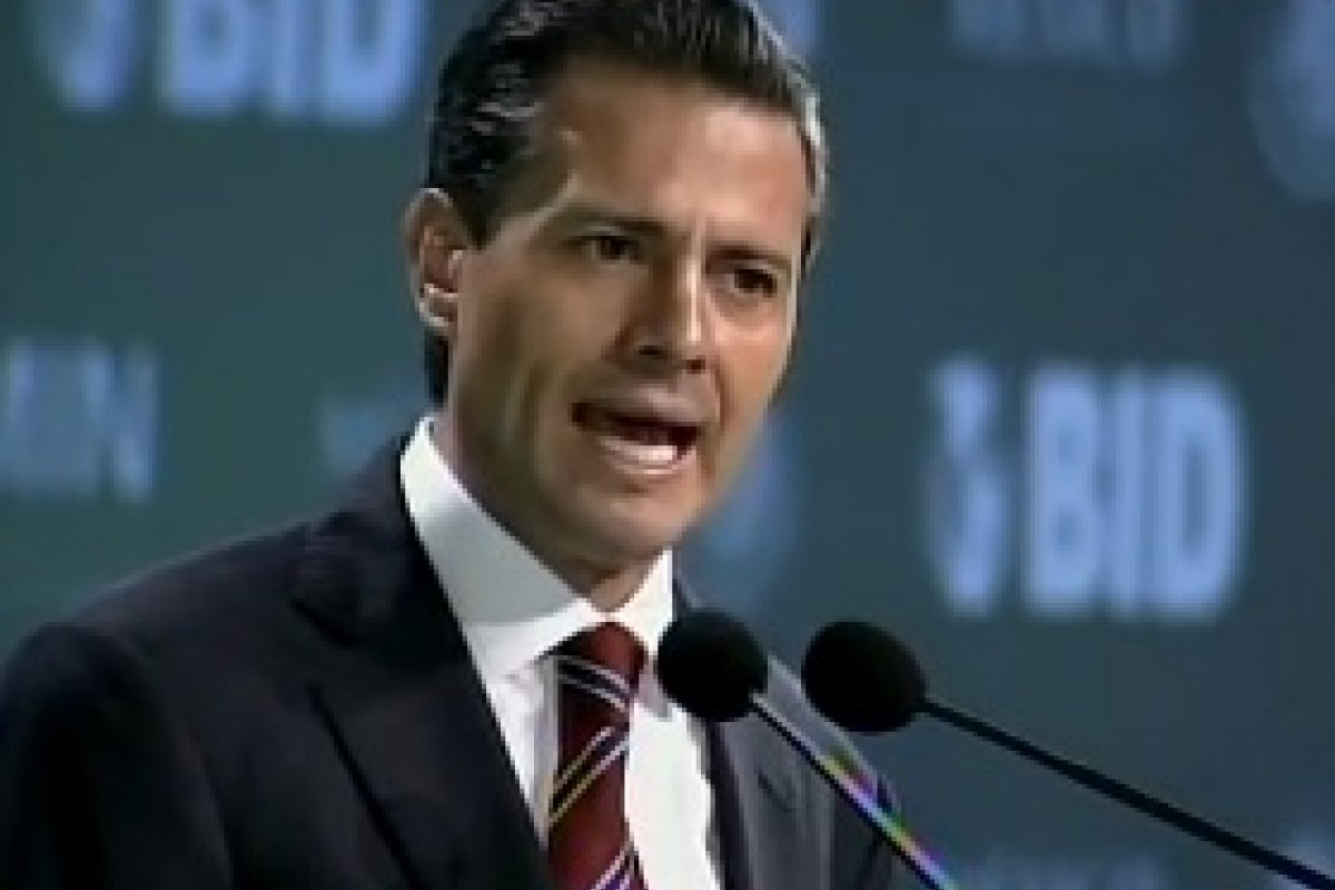 El presidente Peña Nieto durante el XVI Foromic.