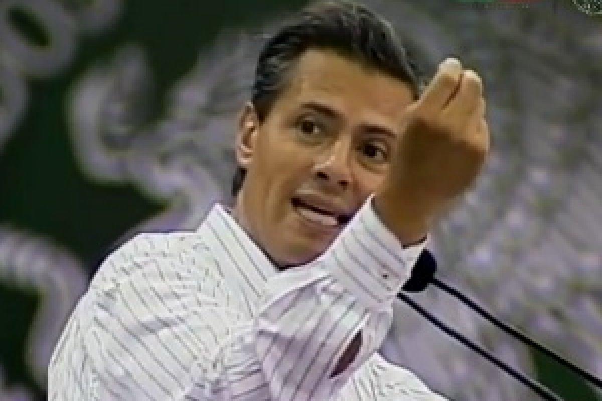 El presidente Peña Nieto, desde Ciudad Victoria.