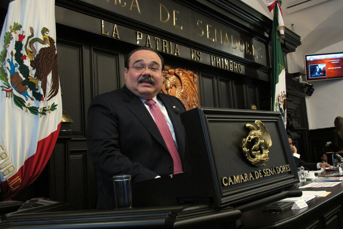 El titular de Sedatu, Jorge Carlos Ramírez Marin, ex presidente de la mesa directiva de la Cámara de Diputados.