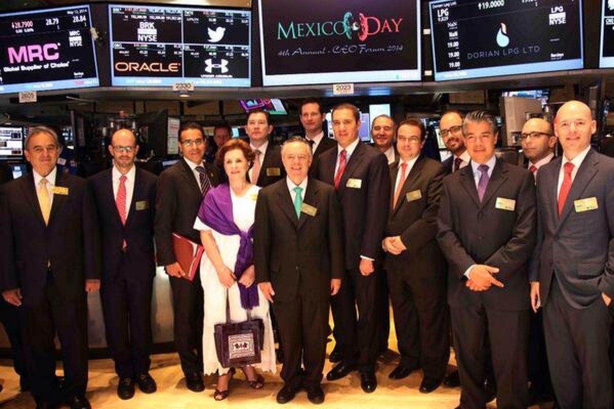 sta es la cuarta ocasión que se festeja el día de México en la Bolsa de Valores de Nueva York.