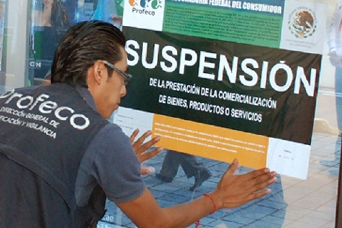 Como medida precautoria se colocaron sellos de suspensión en las agencias.