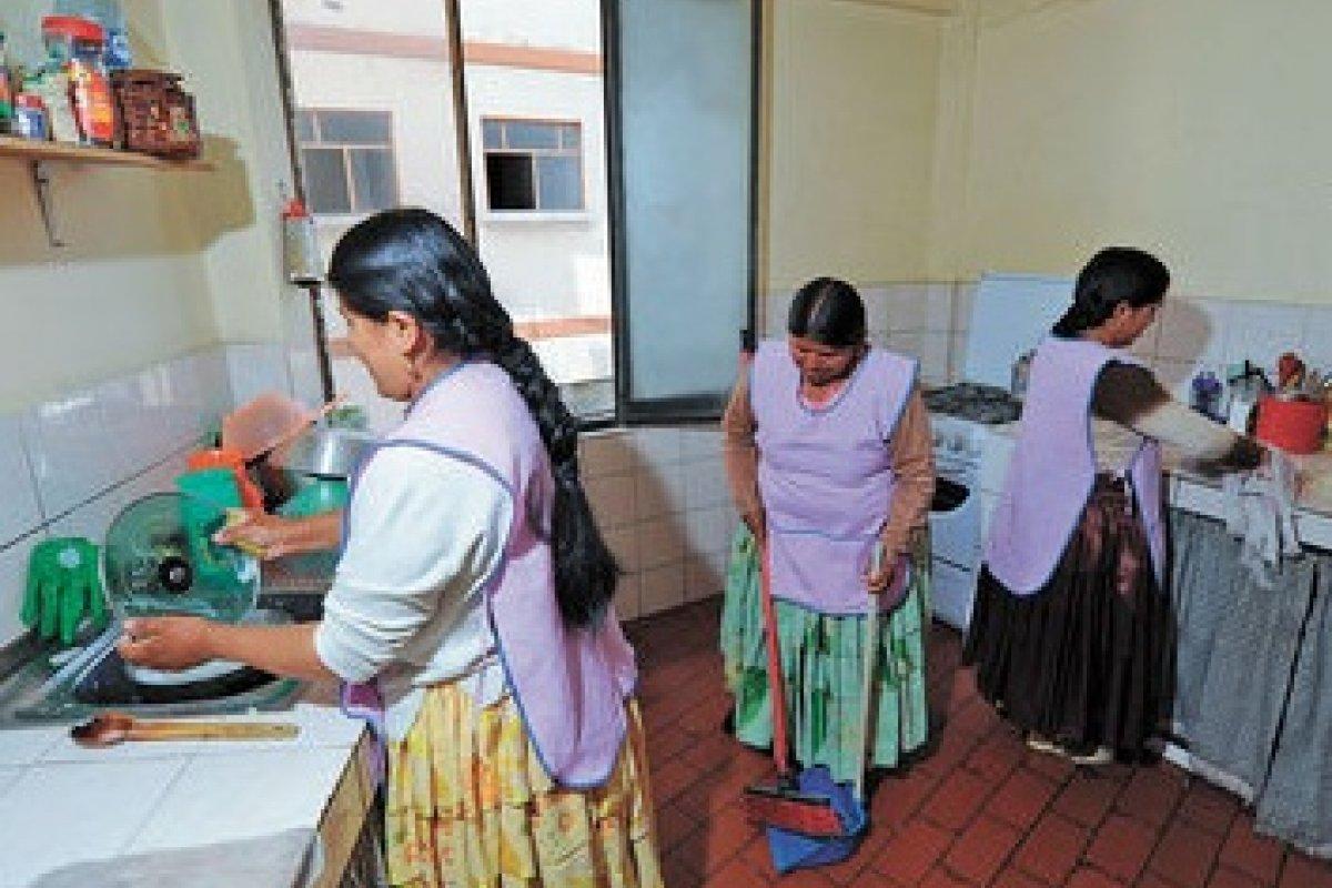 Las trabajadoras domesticas aumentaron 3.1% en el segundo trimestre a comparación anual al pasar de 2.14 millones a 2.21.