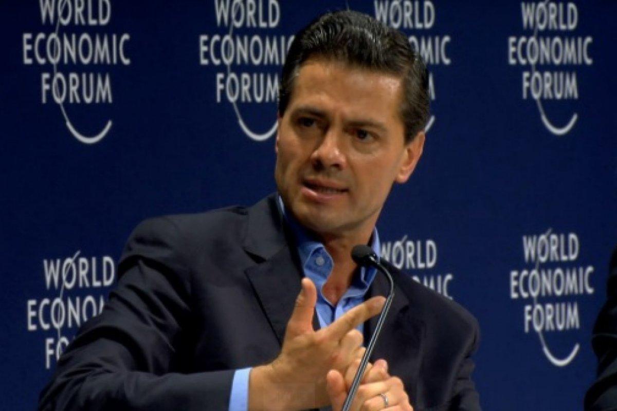 Enrique Peña Nieto, en el Foro Económico Mundial AL, reitero que la corrupción en México se debe a un