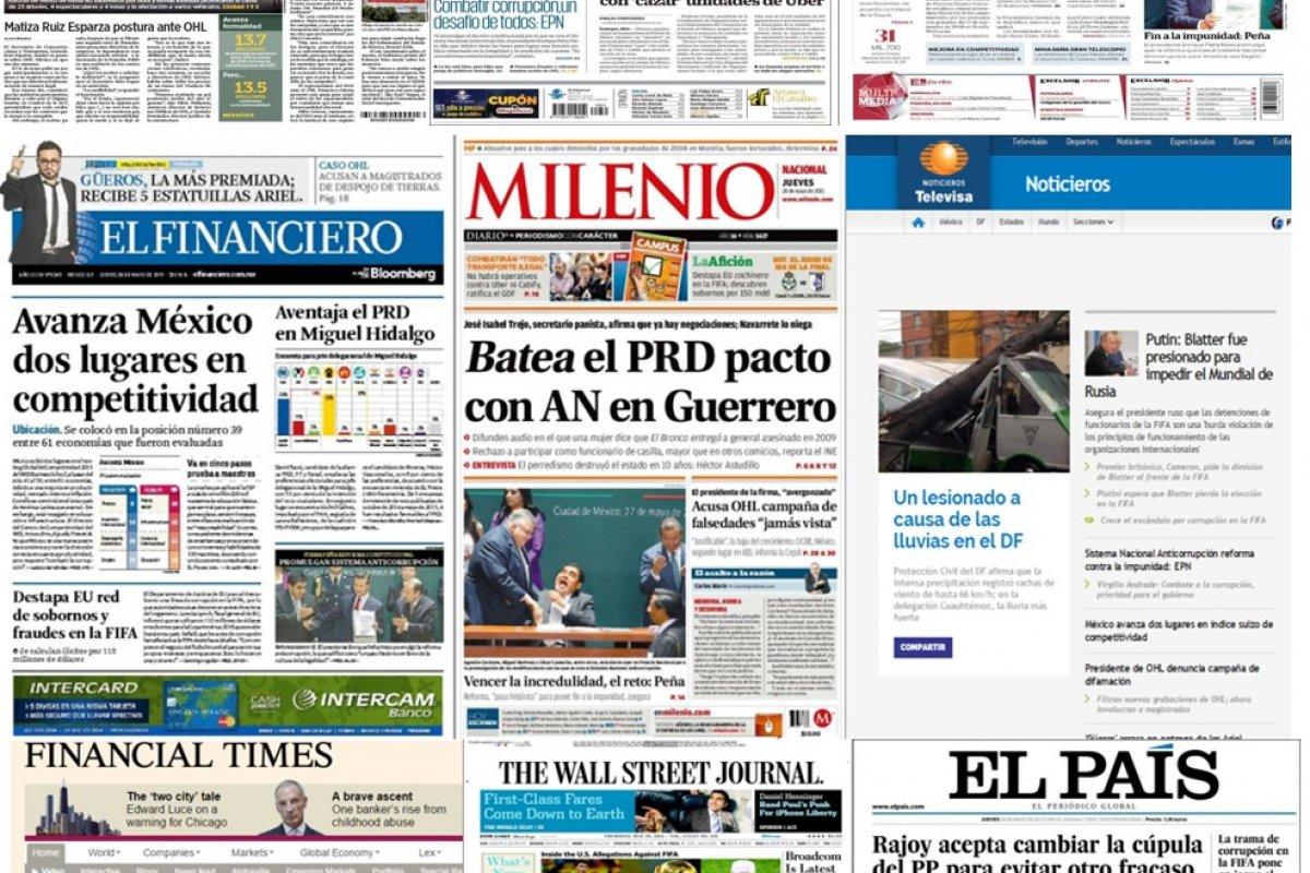 Los principales titulares de la prensa nacional e internacional del 28 de mayo.