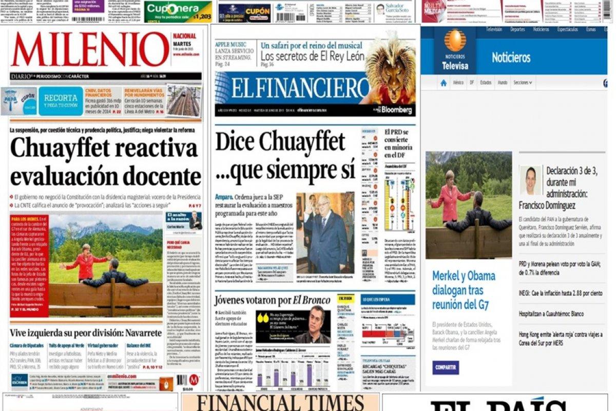 Las principales portadas en la prensa nacional e internacional del 9 de junio.