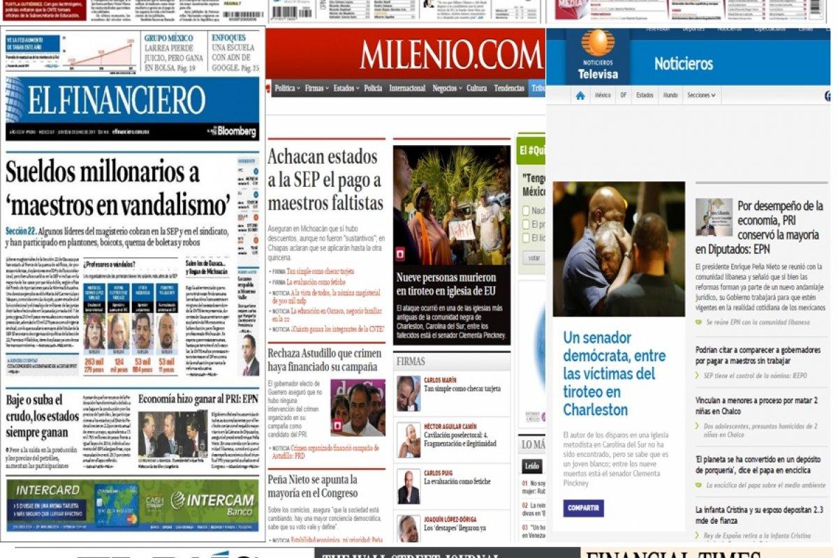 Los principales titulares de la prensa nacional e internacional del 18 de junio.