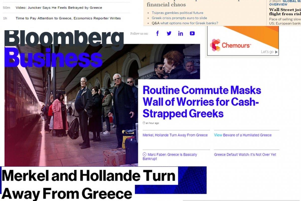 Lo que dijo la prensa internacional este 29 de junio en torno a Grecia.