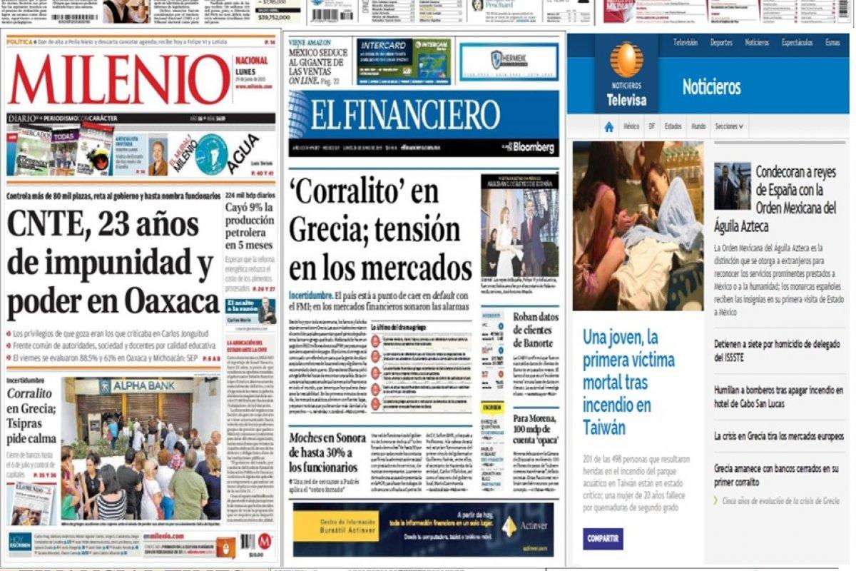 Los principales titulares en la prensa nacional e internacional del 29 de junio.