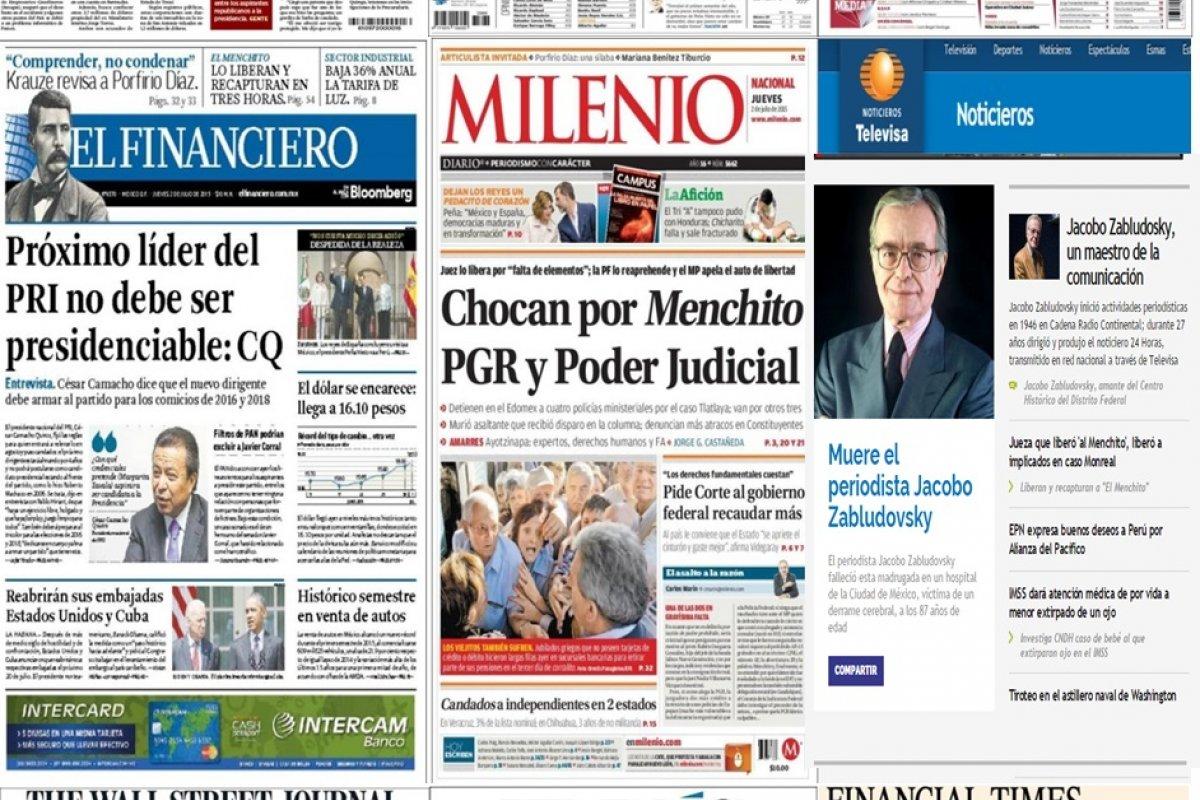 Los principales titulares en la prensa de México y el mundo del 2 de julio.
