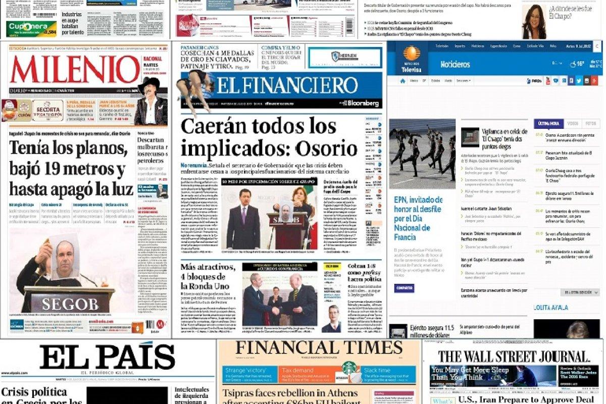 Los principales titulares de México y el mundo del 14 de julio