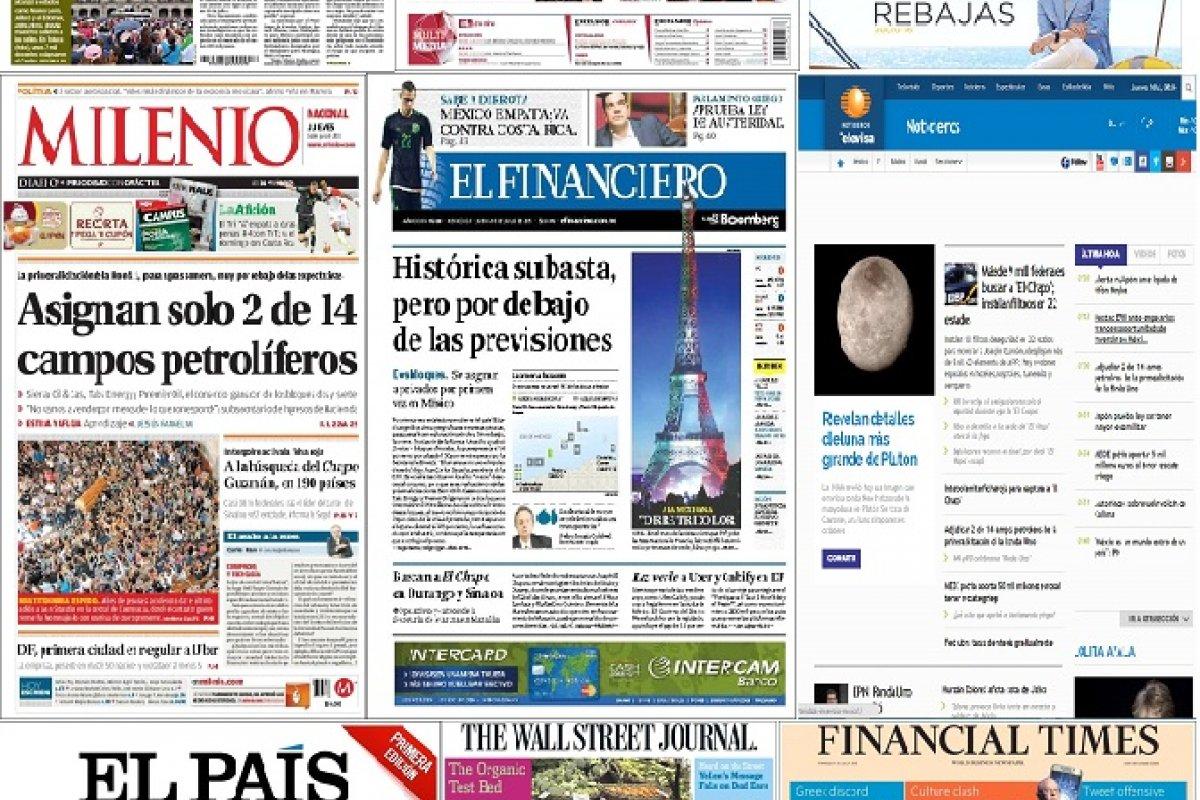 Los principales titulares de México y el mundo del 16 de julio