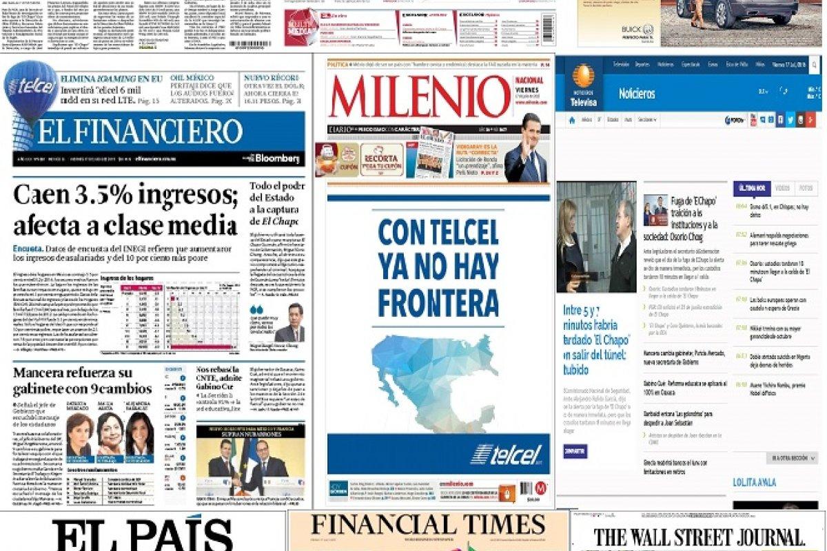Los principales titulares de México y el mundo del 17 de julio