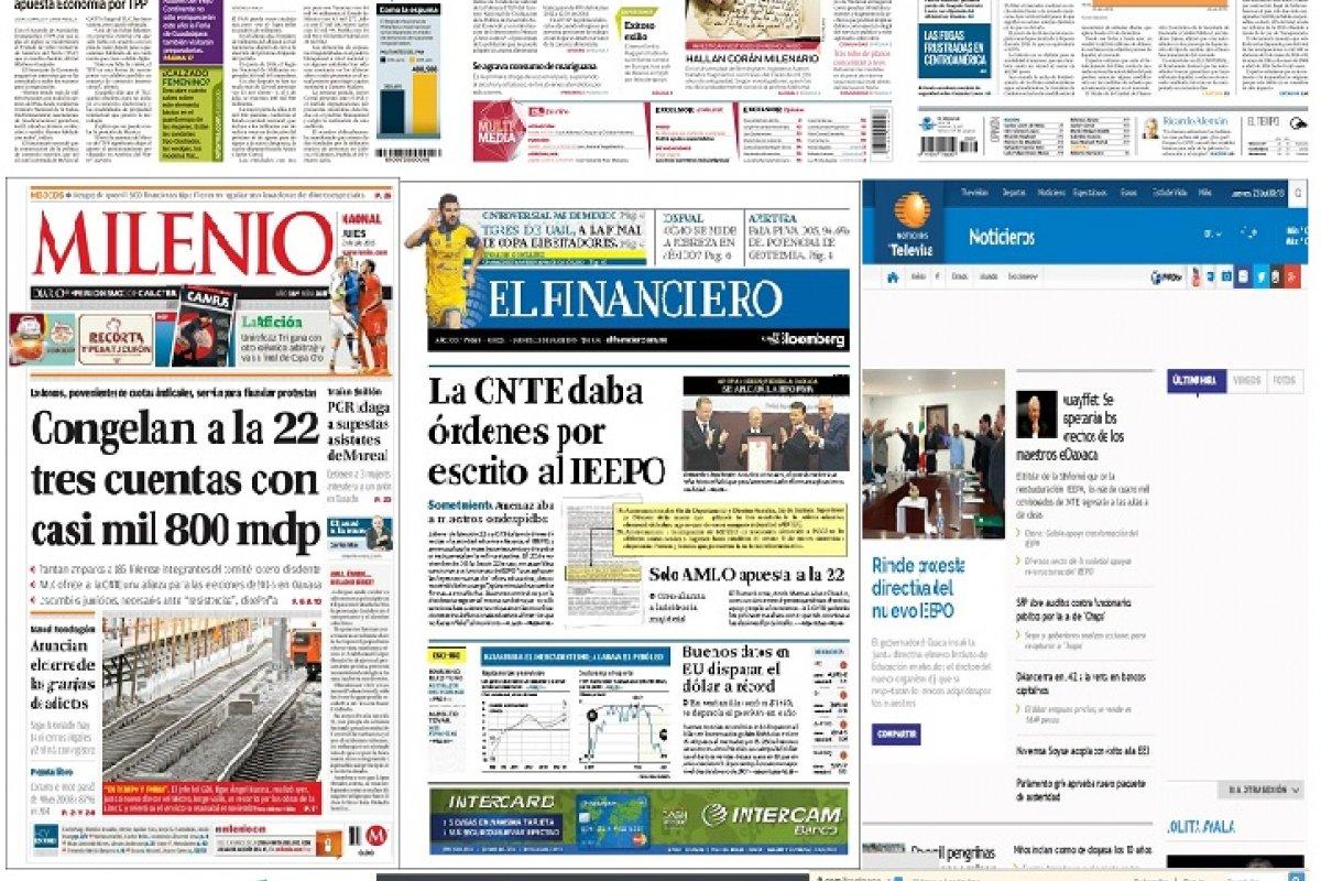 Los principales titulares de México y el mundo del 23 de julio