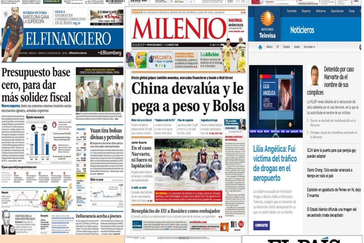 Las principales portadas en la prensa nacional e internacional del 12 de agosto.