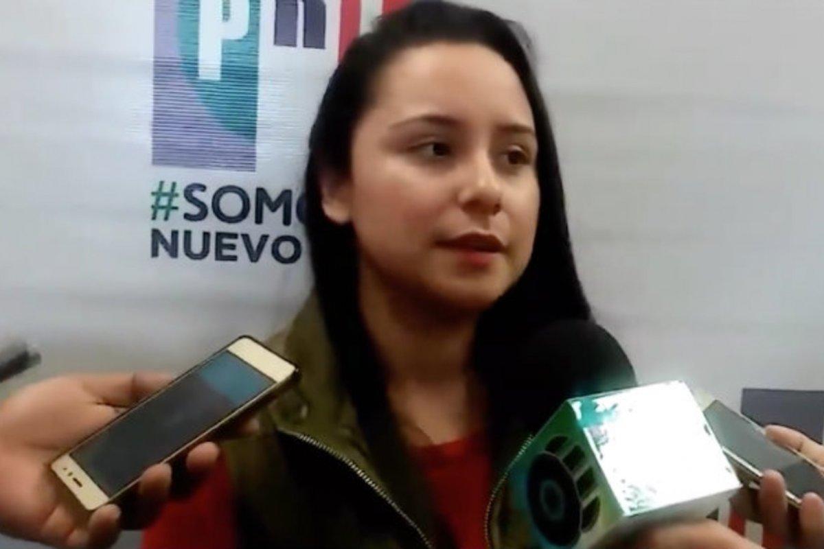 Deisy Karely Salinas de la Fuente de 23 años, es la joven que compite por el PRI a una candidatura por la Alcaldía de Rayones, Nuevo León ycuenta solo con la preparatoria.