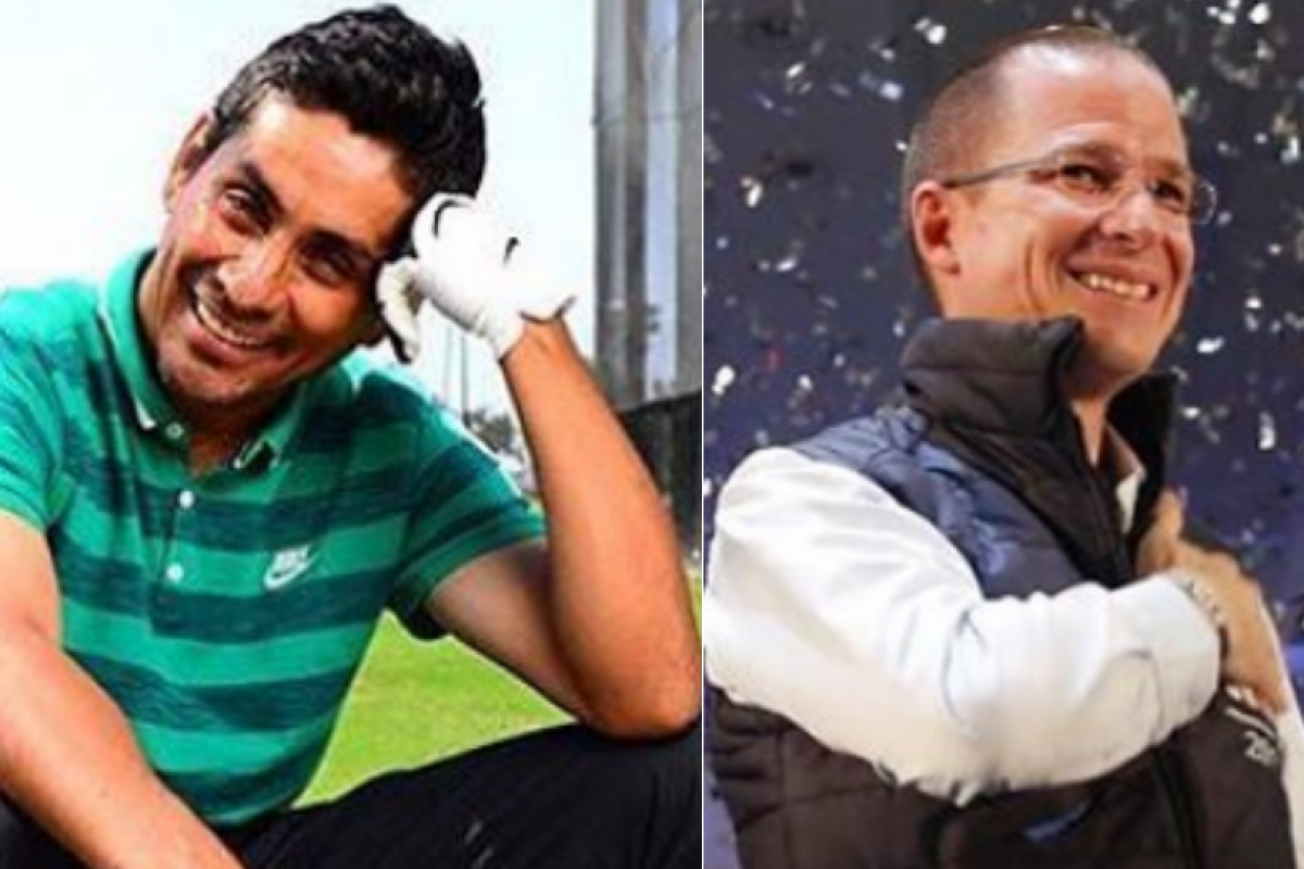 A Jorge Campos no le agradó el acercamiento de Ricardo Anaya en el AICM. Fotos: Instagram