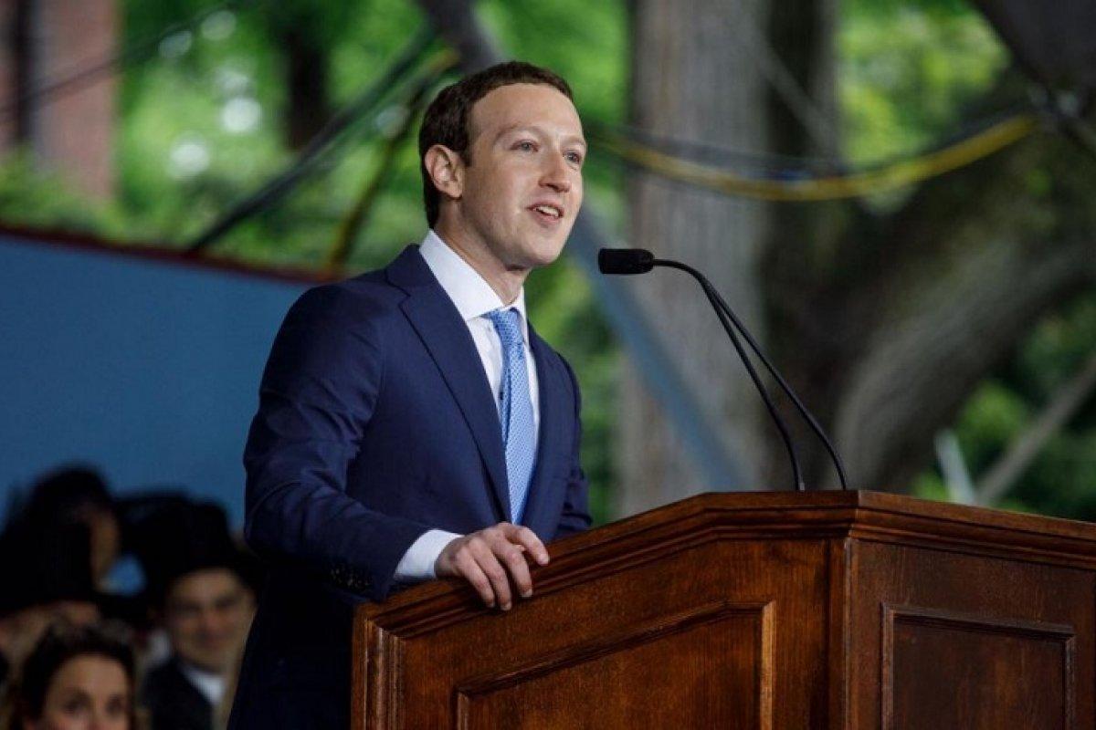 Mark Zuckerberg, dueño de Facebook en conferencia.