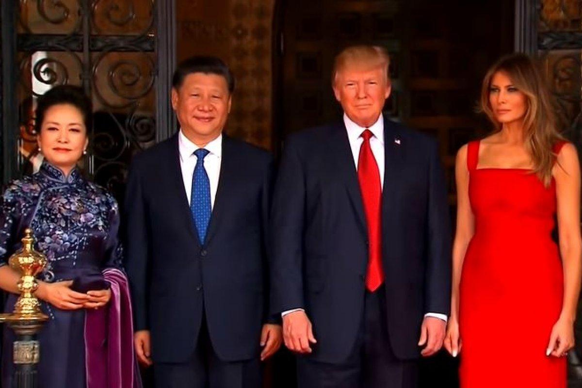 Xi JingPing, presidente de China, junto con su esposa en su visita a los Estados Unidos.