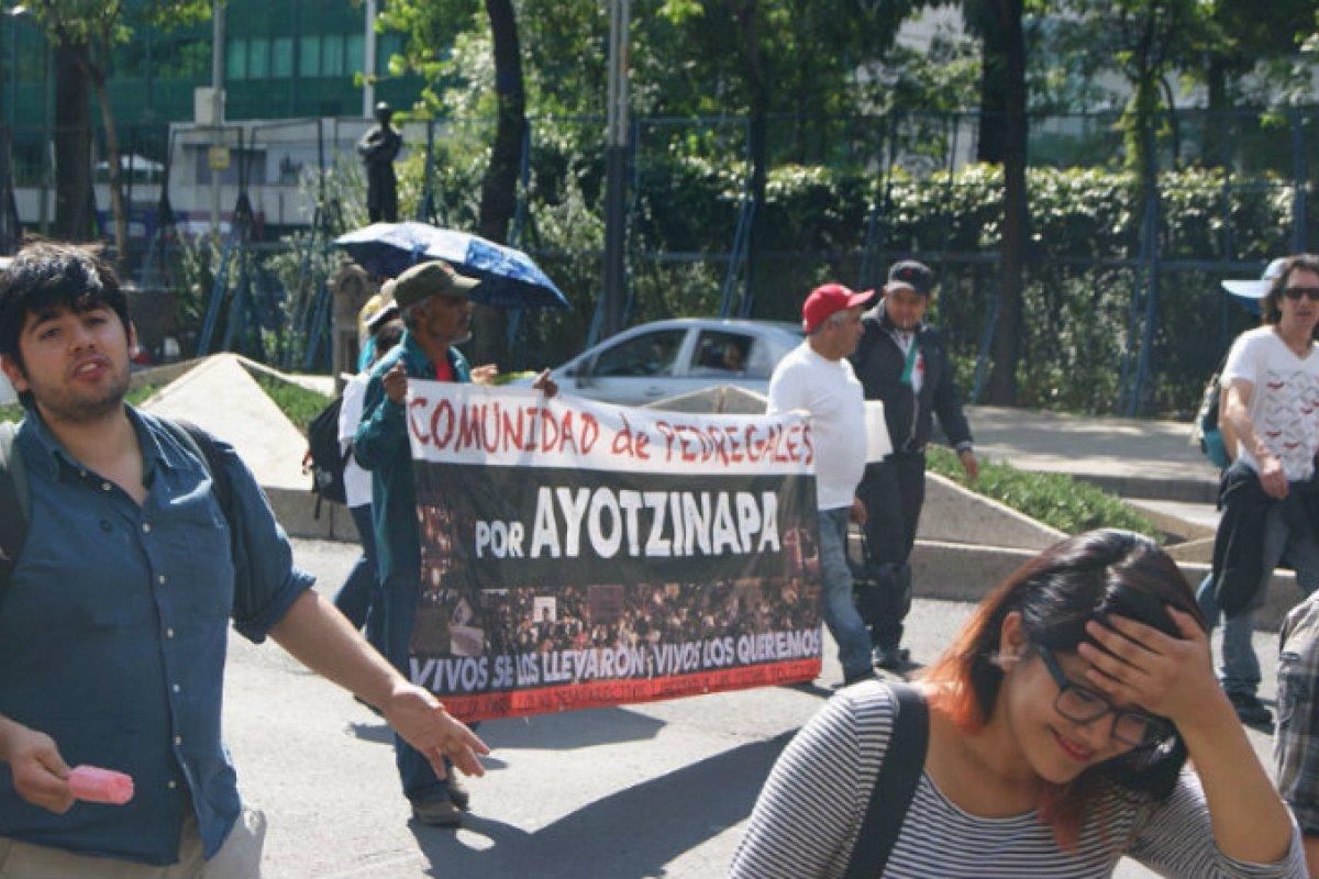 Ayotzinapa manifestación/ Fuente; Wikimedia Commons