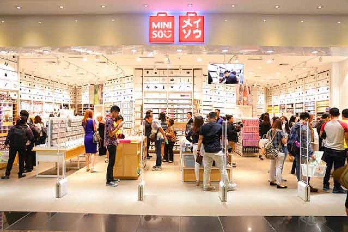 Miniso solo cuenta con cuatro tiendas en Japón, mientras que en China posee más de mil.