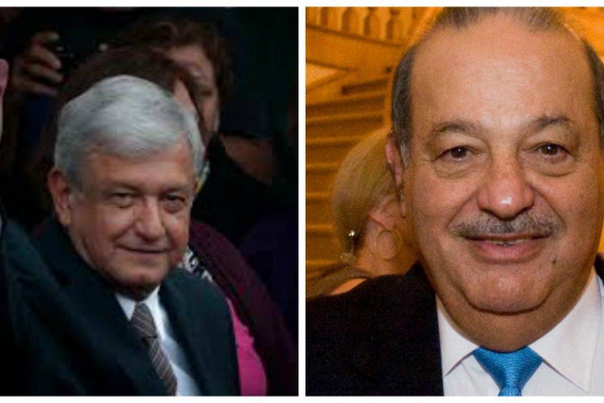 AMLO-Carlos Slim/Fuente: Wikimedia Commons-Flickr